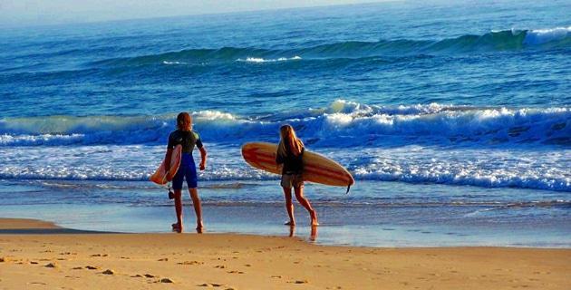 Surfing False Bay