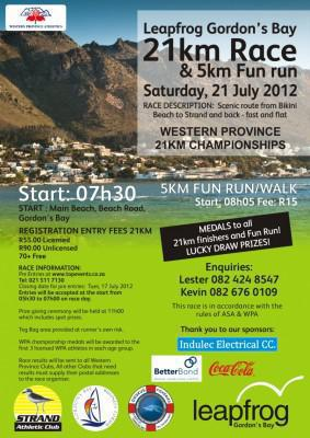 Leapfrog Gordon's Bay 21Km Race