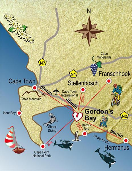 Gordon's Bay Map