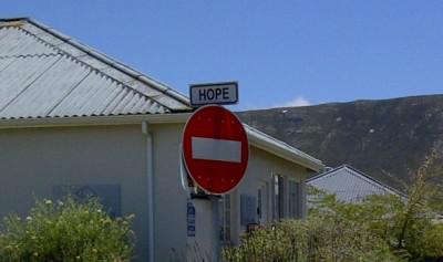 Apparently there's no hope in Hermanus..