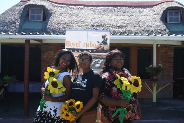 Rachel kotu (SFF) Namhla (Buyel'embo Village) and Nontobeko (SFF)