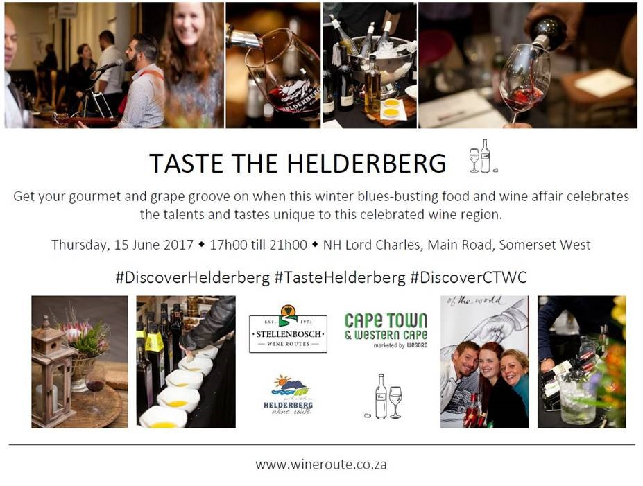 Slaan winter hok: Taste the Helderberg se epikuristiese fees
