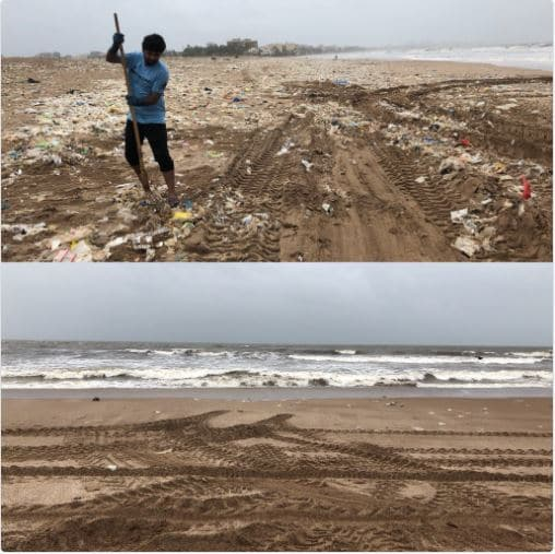 Pic 1: What we are doing to our Ocean and beaches Pic 2: What can be done if you decide put your two hands to good use. Thank you @AfrozShah1 for doing what you do for last 144 weeks. pic.twitter.com/Pws9uFConS — Ashwin (@ashmal312) July 22, 2018