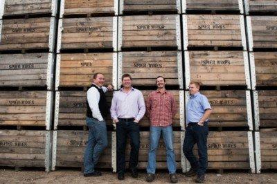 Spier Winemakers f.l.t.r. Frans Smit, Johan Jordaan, Johann Smit, Jacques Erasmus