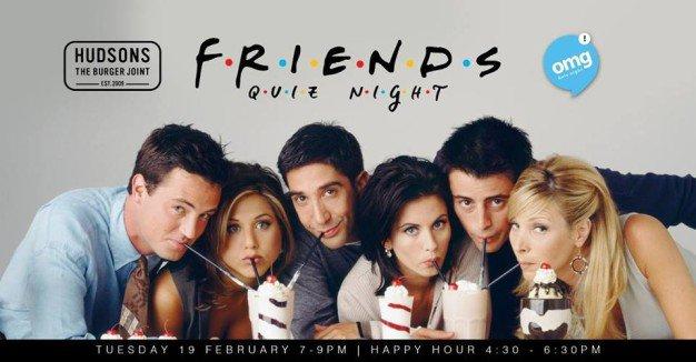 Friends Trivia Night at Hudsons