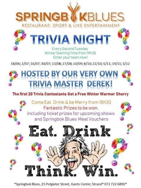 Tuesday Trivia Night.