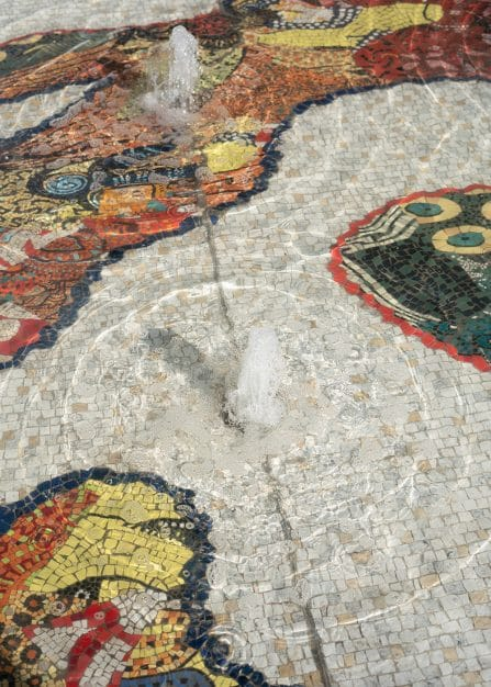 Uthomi a new mosaic Sculpture
