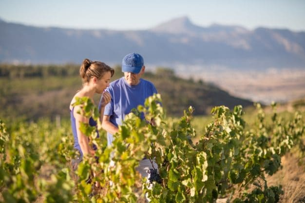 Waterkloof Winemaker Nadia Barnard with estate owner Paul Boutinot LR