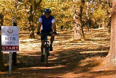 Start and end of the Oak Valley Mountain Bike Trails
