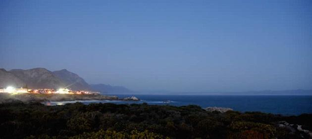 The view of Walker bay from Ocean Eleven Guest House, Hermanus