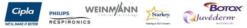 Cipla | Philips Respironics | Weinmann Medical Technology | Starkey | Dysport Botulinum Toxin Type A | Botox | Juvederm Injectable Gel Fillers