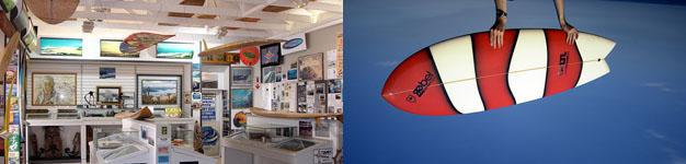 Surf Museum and Fish Surfboard