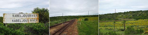 The scenic train line along Kabeljous