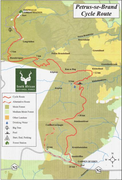 Petrus se Brand MTB Trail, Knysna, Garden Route