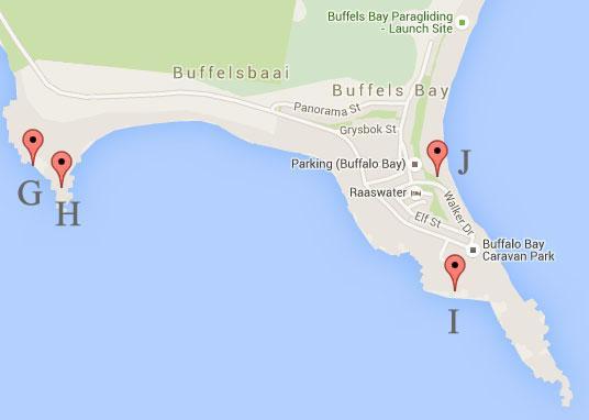 Buffels Baai Fishing Map