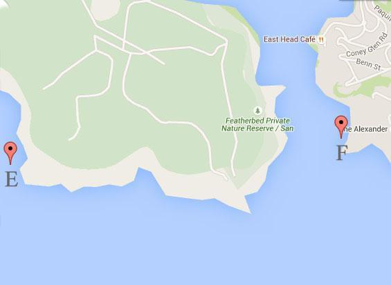 Fishing Map Knysna Heads