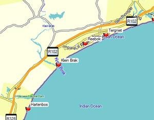 Mossel Bay Fishing Map Small