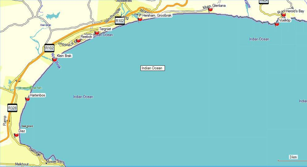 Fishing sedgefield wilderness and mossel bay garden for Fishing spots near me no boat