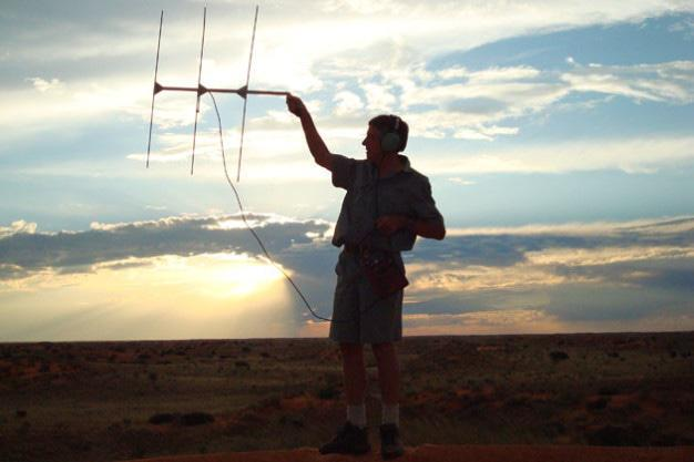 Gus Radio tracking for cheetahs in the Kalahari
