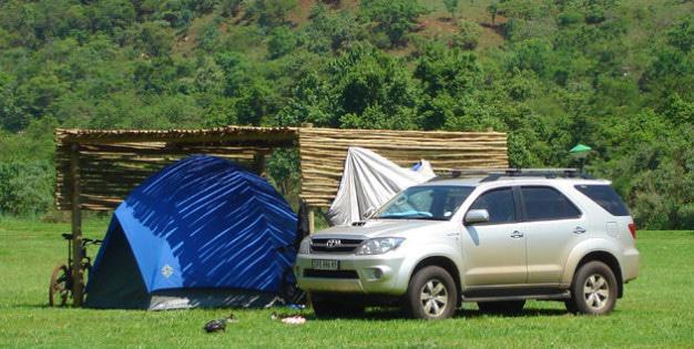 Camping at Mankele