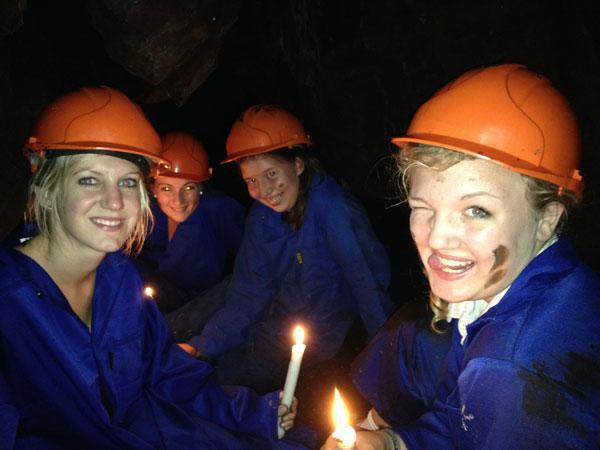 Caving by candlelight in Sabie