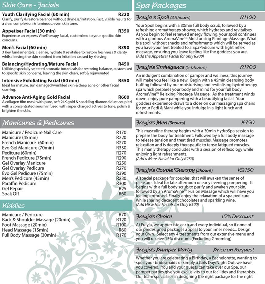 freya menu 2