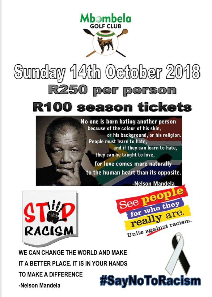 Stop Racism Mbombela Golf Club 2018