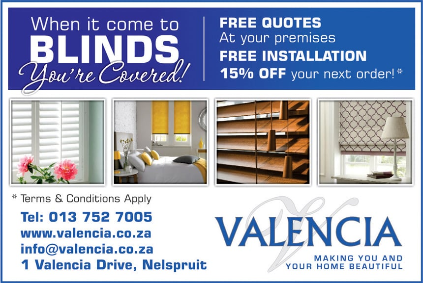 blinds valencia nelspruit