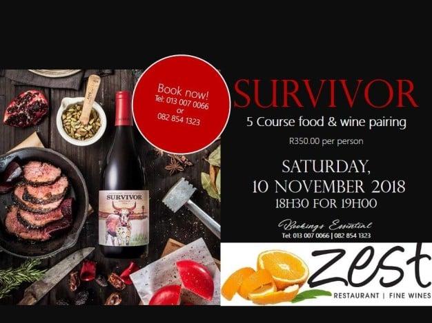 Survivor Wine Tasting at Zest with ShowMe Nelspruit
