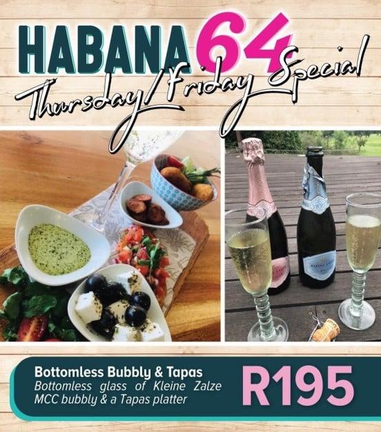 Habana64 Thursday-Friday specials