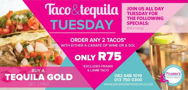 TAco and Tequila Tuesday at Picassos