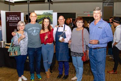 Taliza and Willem Minnaar, Zandri van Staaden, Pieter Swanepoel (Glen Carlou Wines), Renette and Marcellus van Staaden