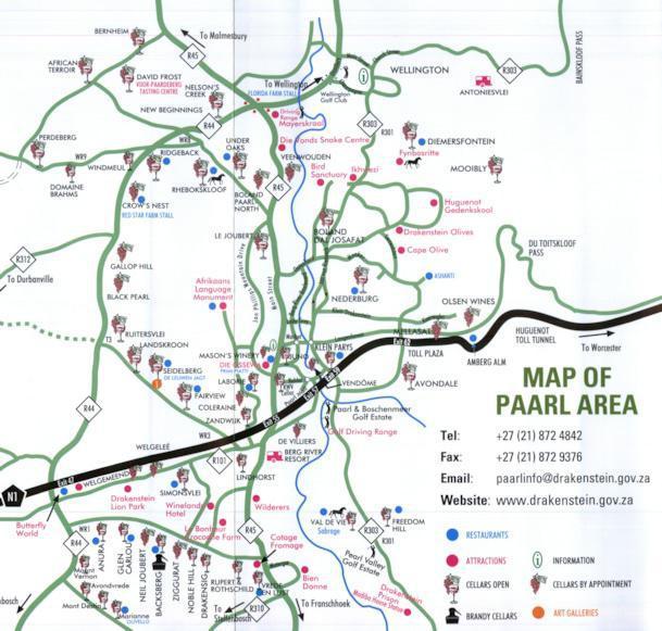 Paarl Maps | ShowMe Paarl