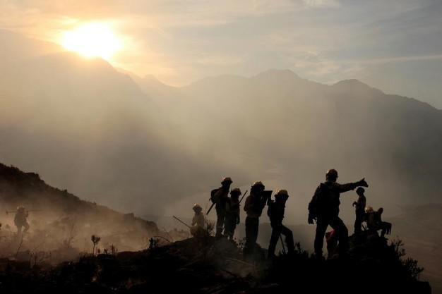 Fire Fighters Silhouette