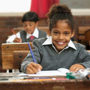 Child at desk