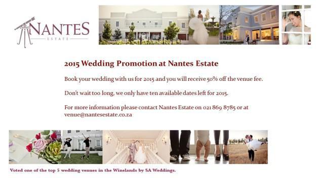 Nantes Estate Wedding Venue Special