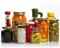 Glass Jars Of Preserved Food