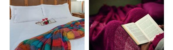 A collection of luxurious blankets and throws is also available at Linen Drawer