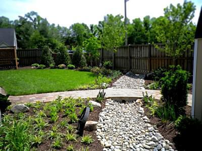 A French drain is ideal for collecting and re-routing sub-surface water. Image courtesy: sunriselandscapeanddesign.com