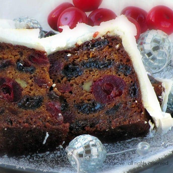 boiled fruit christmas cake with royal icing paarl