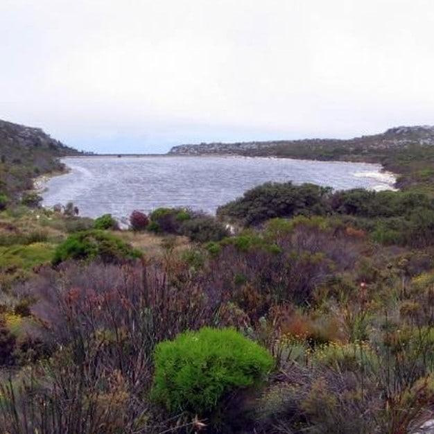 Victoria Dam, Table Mountain stock photo