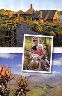 Buffels Drift restaurant Riding camels and view from Gamkaskloof valley