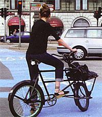 lady on bike