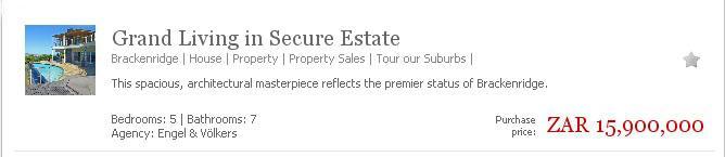 Property Listing Blurb Screen Shot
