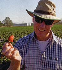 Mark Miller and one of his berries
