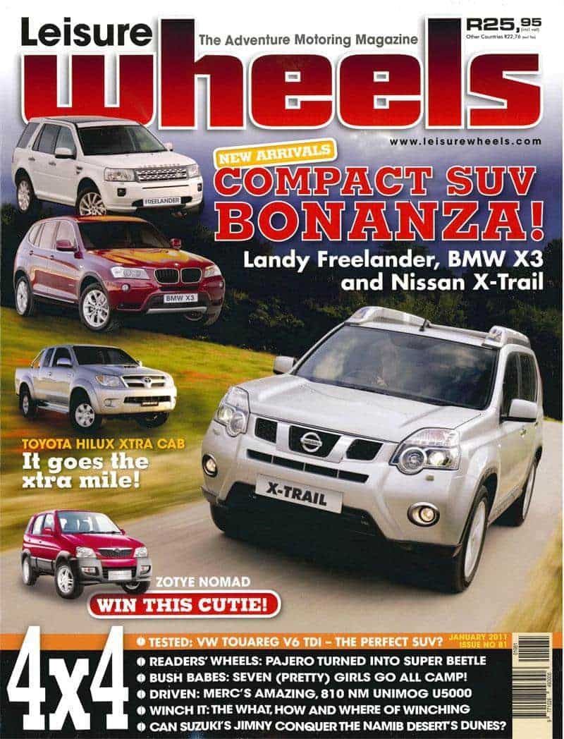 Leisure Wheels Magazine Cover January 2011