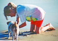 Playing on Keurbooms Lagoon Beach