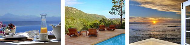 Plettenberg Bay offers accommodation with sea views, mountains and forest views - and often both!