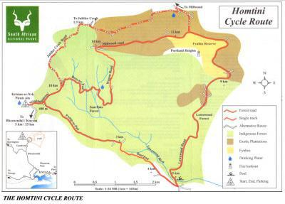 Homtini Cycle Trail Sanparks Map