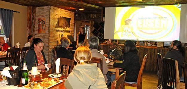 Presentation given at LM in Plett. Photo: Christy Strever.